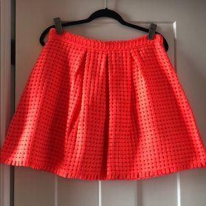 Anthro Yoanna Barashi Neon Ribbon skirt, sz M